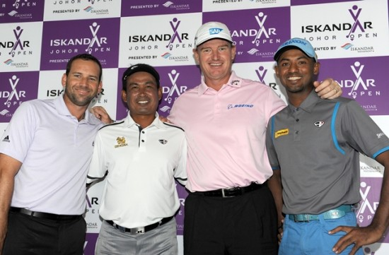 Shaaban (far right) is a hopeful for a good showing despite the presence of top stars such as Sergio Garcia, Thaworn Wiratchant and Ernie Els © Khalid Redza/Asian Tour