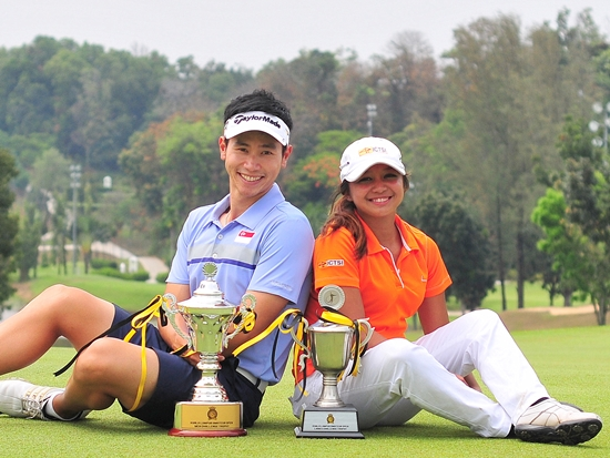 Kuala Lumpur Amateur Open 2013 winners Singaporean Jerome Ng and Princess Mary Superal of the Philippines
