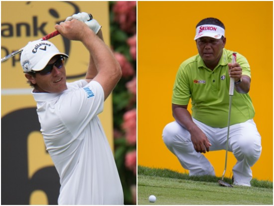 Belgian Nicolas Colsaerts and Antonio Lascuna of the Philippines are tied for second on nine-under 135 ©eddieputera|TCH