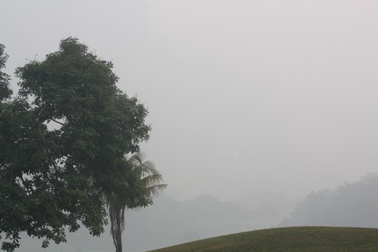 Unhealthy levels of haze in the Klang Valley has been a bane to golf tournament organisers ©golfinfoguy