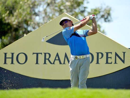 Nicholas Fung of Malaysia in action during the practice round of the Ho Tram Open ©Khalid Redza|Asian Tour