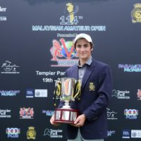 Lachlan Barker of Australia with the Malaysian Amateur Open trophy ©Mike Casper The ClubHouse