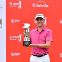 Justin Thomas is now a two-time winner of the CIMB Classic ©Mike Casper TCH